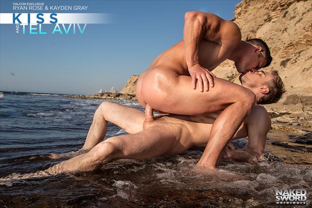 Beach gay naked sword video